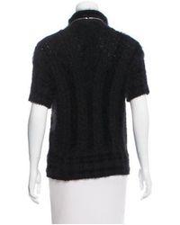 Chanel - Black Angora-blend Sweater - Lyst