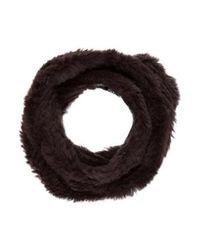 Adrienne Landau - Brown Knit Fur Infinity Scarf - Lyst