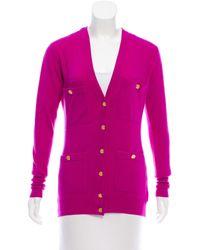 Chanel - Pink Vintage V-neck Cardigan Magenta - Lyst