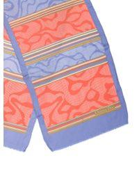 Dior - Multicolor Abstract Scarf Orange - Lyst