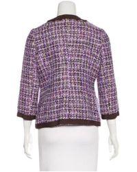 Kate Spade - Purple Wool Bouclé Jacket - Lyst