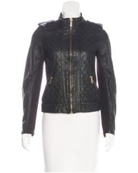 Michael Kors - Black Quilted Leather Jacket - Lyst