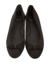 Dior - Black Woven Cannage Flats - Lyst