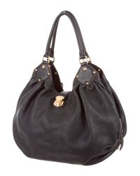 Louis Vuitton | Black Mahina L Hobo | Lyst