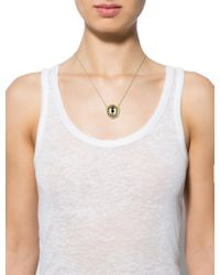Alexis Bittar - Metallic Pyrite & Crystal Pendant Necklace Gold - Lyst