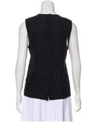 A.L.C. - Black Sleeveless Silk Top - Lyst