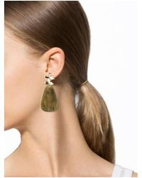 Elizabeth and James - Metallic Willow Petal Geometric Drop Earrings Gold - Lyst