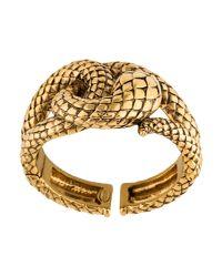 Roberto Cavalli - Metallic Serpent Cuff Gold - Lyst