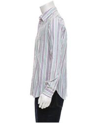 Missoni - White Striped Button-up Shirt for Men - Lyst