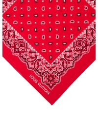 Louis Vuitton - Red On The Road Bandana Scarf for Men - Lyst