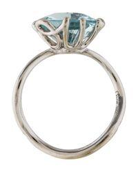Dior - Metallic Diamond & Aquamarine Oui Ring White - Lyst