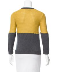 Rag & Bone - Gray Long Sleeve Button-up Cardigan Yellow - Lyst