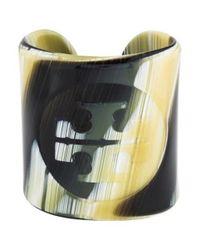 Tory Burch - Brown Resin Logo Cuff - Lyst