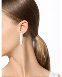 Givenchy - Metallic Chalcedony Shark Tooth Magnetic Single Earring Silver - Lyst