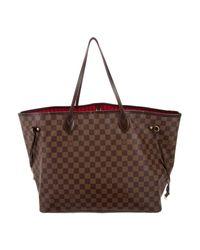 Louis Vuitton - Brown Damier Ebene Neverfull Gm - Lyst