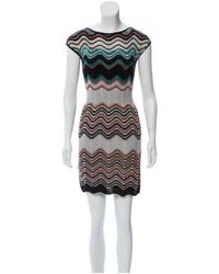 Missoni - Gray Zig Zag Sleeveless Dress Grey - Lyst