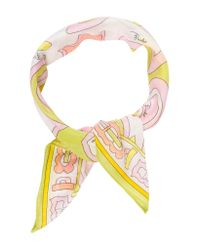 Emilio Pucci - Green Abstract Printed Scarf Lime - Lyst