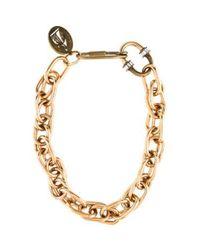 Lanvin - Metallic Chain-link Necklace Rose - Lyst