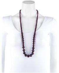 Erickson Beamon - Metallic Purple Pearl Necklace - Lyst