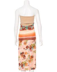 Jean Paul Gaultier - Pink Abstract Print Sleeveless Dress - Lyst