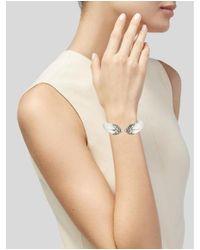 Alexis Bittar - Metallic Phoenix Deco Bypass Hinged Bracelet Silver - Lyst