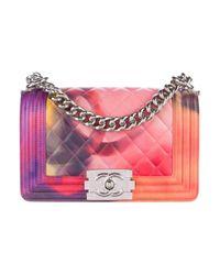 Chanel   Metallic Summer 2015 Small Flower Power Boy Bag Pink   Lyst
