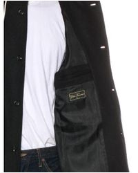 A.P.C. - Black Hooded Wool Coat W/ Tags for Men - Lyst