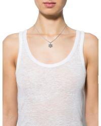 BVLGARI - Metallic 18k Diamond Snowflake Pendant Necklace White - Lyst