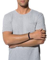 Tod's - Metallic Leather Braided Bracelet Black for Men - Lyst