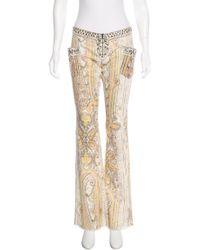 Isabel Marant - Metallic Low-rise Wide-leg Pants Yellow - Lyst