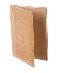 Chanel - Brown Cc Timeless Caviar Cardholder - Lyst