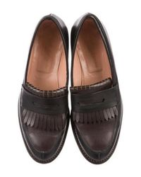 Robert Clergerie - Brown Leather Kiltie Loafers - Lyst