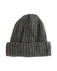 Ugg - Gray Rib Knit Beanie Grey - Lyst