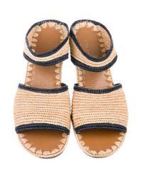 Carrie Forbes - Natural Raffia Slide Sandals Tan - Lyst