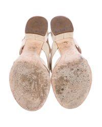 Chanel - Natural Cc Turnlock Sandals Neutrals - Lyst