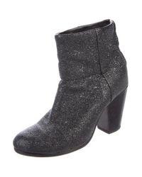Rag & Bone - Black Newbury Metallic Ankle Boots - Lyst