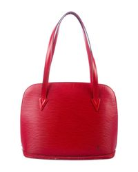 Louis Vuitton - Red Epi Lussac Tote - Lyst
