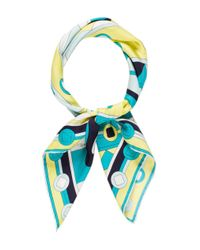 Emilio Pucci - Blue Abstract Printed Scarf Turquoise - Lyst