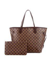 Louis Vuitton | Brown Damier Ebene Canvas Neverfull Mm | Lyst