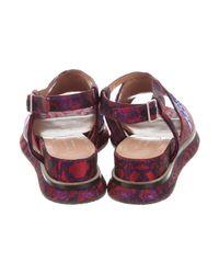 Dries Van Noten - Metallic Brocade Sequined Sandals - Lyst