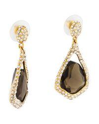 Alexis Bittar - Metallic Smoky Quartz & Crystal Miss Havisham Drop Earrings Gold - Lyst