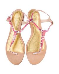 Emilio Pucci - Pink Patent Thong Sandals - Lyst