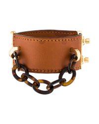 Louis Vuitton | Metallic Lock Me Nomade Cuff Bracelet Brown | Lyst