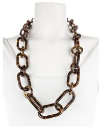 Michael Kors - Metallic Resin Link Necklace Gold - Lyst