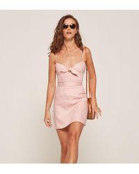 Reformation Pink Beliz Dress