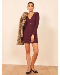Reformation Purple Jani Dress