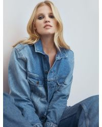 Reformation Blue Mccoy Denim Jacket