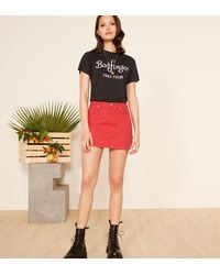 Reformation Red Becca Skirt
