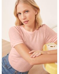 Reformation Pink Rylie Top