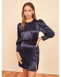 Reformation Blue Cairo Dress